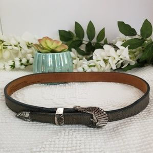 Nocona Leather Belt Sz 28